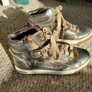 Michael Kors Gold High Top Shoes